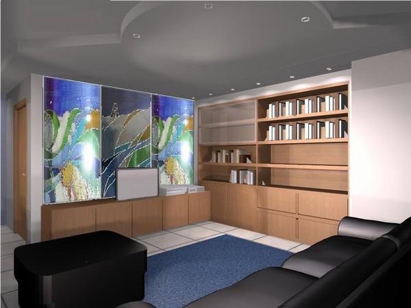 soggiorno moderno con parete attrezzata