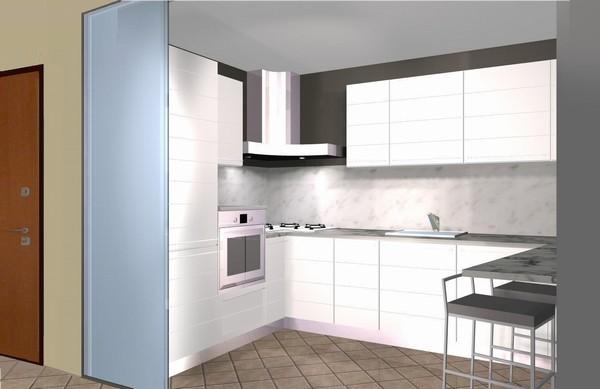 Cucina con vetro divisorio - Vetrate divisorie cucina soggiorno ...