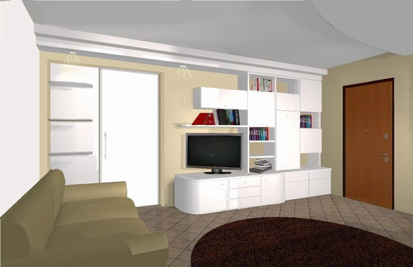Soggiorno moderno con divano angolare for Salotto ad angolo
